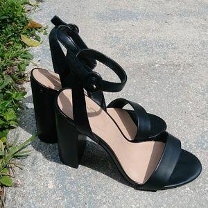 Mix NO 6 Black Heels Open Toe Sandals size 9.5